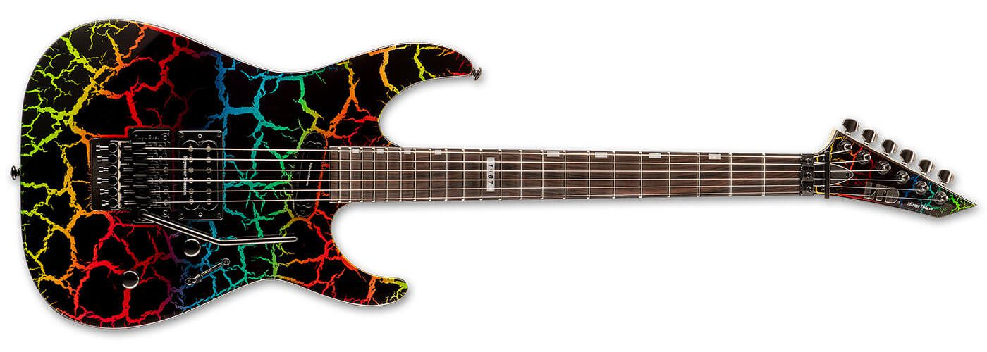 ESP LTD '87 Reissue Series Rainbow Crackle Mirage Deluxe '87