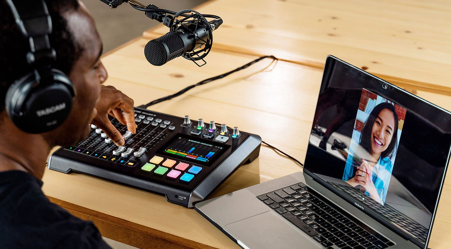 Tascam Mixcast 4 in action