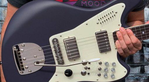 BilT Mood Guitar in purple with humbuckers