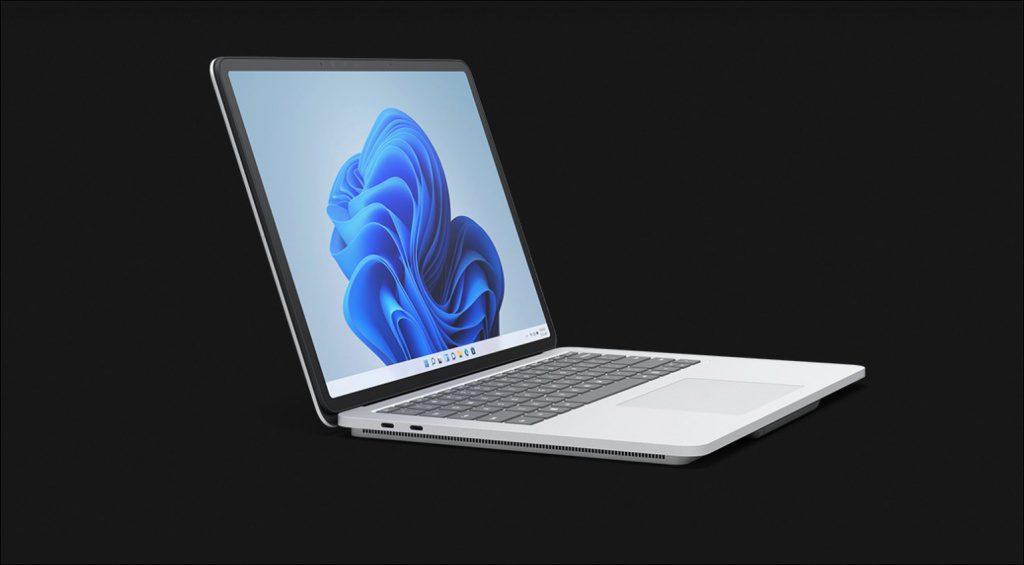 Surface Laptop Studio in laptop mode.