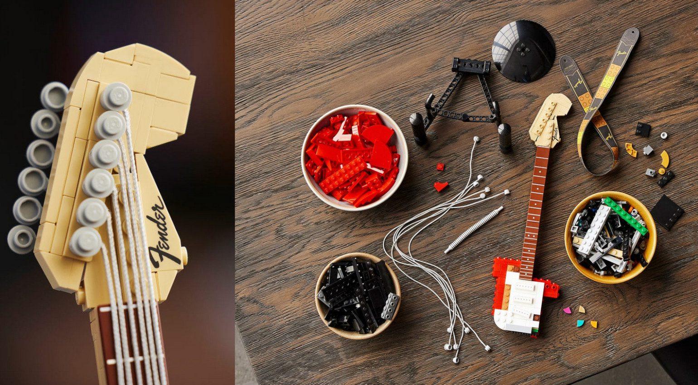 Lego Fender Stratocaster headstock