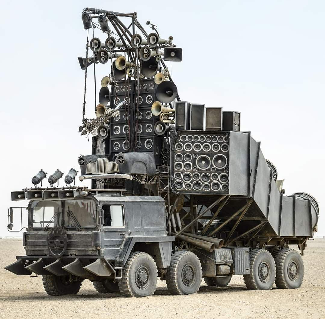 Mad Max Doof Wagon possibly the ultimate guitar rig?