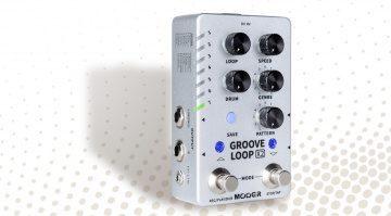 Mooer Groove Loop X2 stereo looper pedal with drum machine