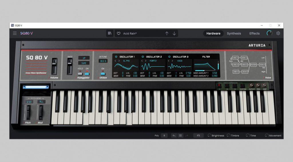 Arturia SQ80 V hardware interface