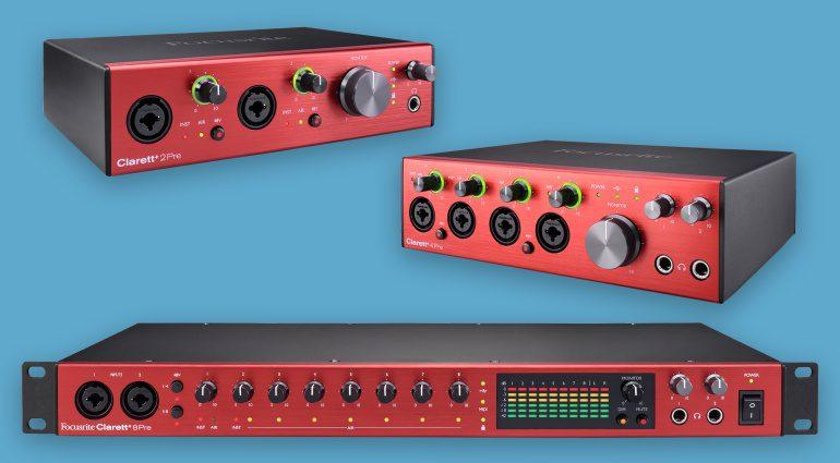Focusrite Clarett+ USB Audio Interfaces
