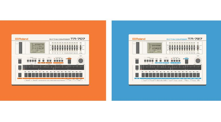 Roland TR-707 and TR-727 VST