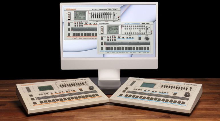 Roland TR-707 and TR-727