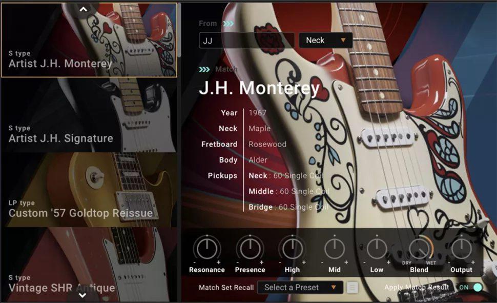 The Jimi Hendrix Monterey Strat has been Guitar matched