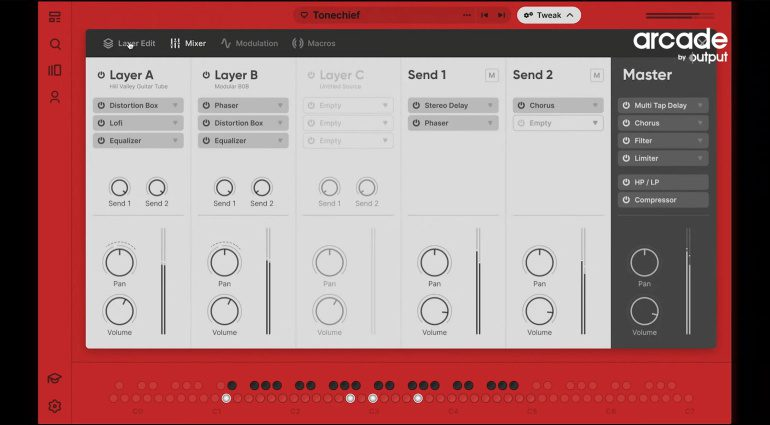 Output Arcade Note Kit effects